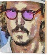 Johnny Depp Actor Wood Print