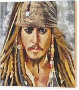 Johnny Depp Jack Sparrow Actor Wood Print