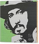 Johnny Depp Wood Print