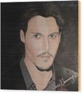 Johnny Depp - The Actor Wood Print
