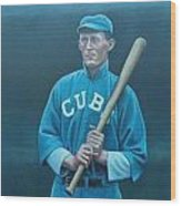 Johnny Evers Wood Print by Mark Haley