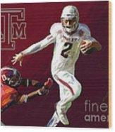 Johnny Football Wood Print