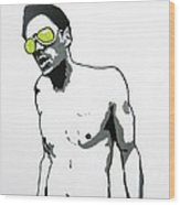 Johnny Knoxville Wood Print
