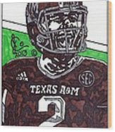 Johnny Manziel 6 Wood Print by Jeremiah Colley