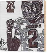 Johnny Manziel 9 Wood Print by Jeremiah Colley