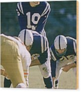 Johnny Unitas Under Center Wood Print by Retro Images Archive