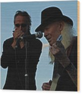 Johnny Winter And James Montgomery Playing The Blues Wood Print