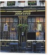 John''s Pub Wood Print
