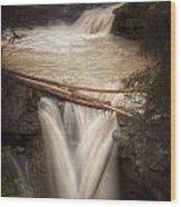 Johnston Canyon Wood Print by Stuart Deacon