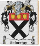 Johnston Coat Of Arms Irish Wood Print