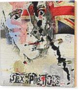 Johny Rotten Wood Print