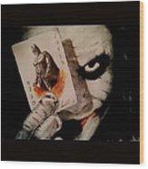 Joker And Batman Wood Print