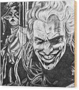 Joker And Harley Quinn  Wood Print