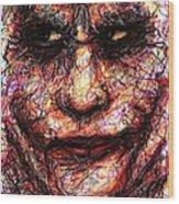 Joker - Face II Wood Print