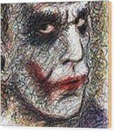 Joker - Pout Wood Print by Rachel Scott