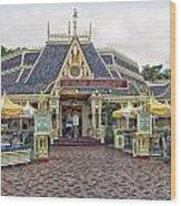 Jolly Holiday Cafe Main Street Disneyland 01 Wood Print