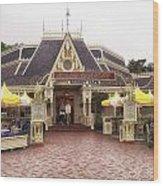 Jolly Holiday Cafe Main Street Disneyland 02 Wood Print
