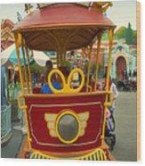 Jolly Trolley Disneyland Toon Town Wood Print