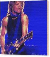 Jon Bon Jovi Wood Print by John Travisano