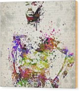 Jon Jones Wood Print by Aged Pixel