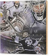 Jonathan Quick Collage Wood Print