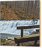 Jones Mill Run Dam Relaxing View Wood Print