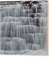 Jones Mill Run Dam Up Close 2 Wood Print