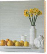 Jonquils And Citrus Wood Print