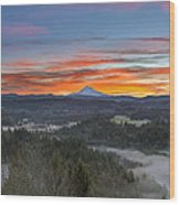 Jonsrud Viewpoint Sunrise Wood Print