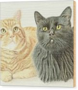 Jonzy And Black Wood Print