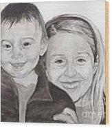 Jordan And Chey Chey Wood Print