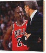 Jordan And Coach Wood Print