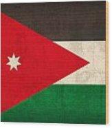 Jordan Flag Vintage Distressed Finish Wood Print