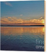 Jordan Lake Sunset 2 Wood Print by Kelly Nowak
