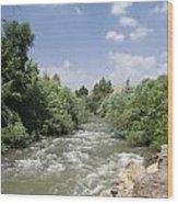 Jordan River  Wood Print by Rita Adams