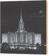 Jordan River Utah Lds Temple Wood Print