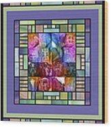Jornada Mogollon Kaleidoscope Wood Print