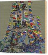 Jose Gaspar Ship Vertical Work Wood Print