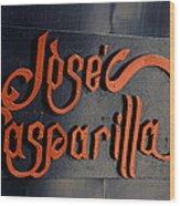 Jose Gasparilla Name Plate Color Wood Print