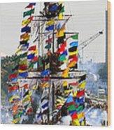 Jose Gasparilla Ship Work A Wood Print