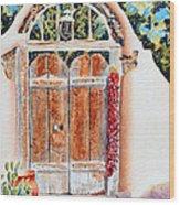 Josefina's Old Gate Wood Print