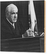 Joseph A. Wapner In The People's Court  Wood Print