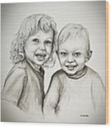 Joseph And Michael Wood Print