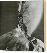 Josephine Baker Wearing A Feathered Cape Wood Print