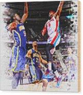 Josh Smith Of The Detroit Pistons Wood Print