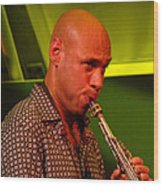 Joshua Redman 2 Wood Print by Eva Kato