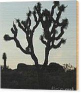 Joshua Tree At Sundown Wood Print