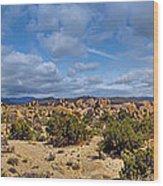 Joshua Tree National Park Indian Cove Rocks Wood Print