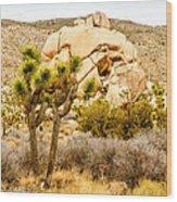 Joshua Tree National Park Skull Rock Wood Print