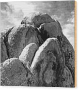 Joshua Tree Rocks Joshua Tree Wood Print